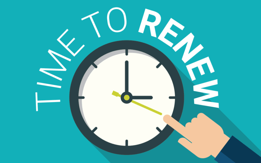 Time to Renew Graphic