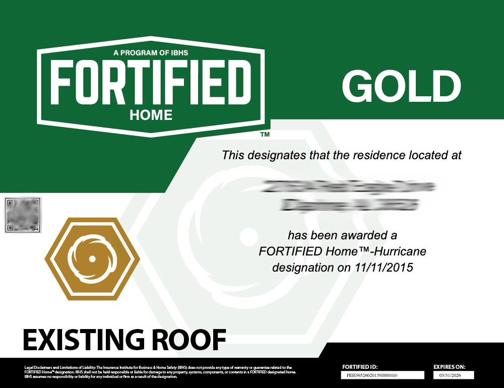 Existing Gold Rewed Certificate