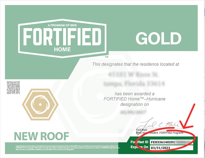 Fortified Gold Designation